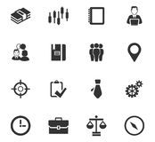 Business icons set. And symbols for web user interface Stock Photo