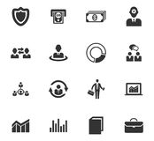 Business icons set. And symbols for web user interface Stock Photography
