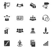 Business icons set. And symbols for web user interface Stock Photos