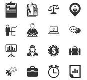 Business icons set Stock Photography