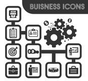 Business icons set. And symbols for web user interface Royalty Free Stock Photo