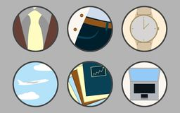 Business icons. Set of icons on a theme  business Royalty Free Stock Photos