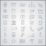 Business  icons set. Business  icons theme set Royalty Free Stock Photos