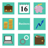 Business icons. Set of icons on the theme of business and Finance Royalty Free Stock Photography