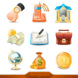 Business icons set 4. Three-dimensional  Business icons set 4 Royalty Free Stock Images