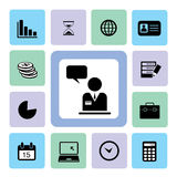 Business Icons set. For use Stock Photos