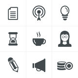 Business Icons Set. Vector Design Royalty Free Stock Photography