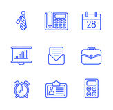 Business icons set.Vector illustration. Business flat fashion icons for you Stock Photo