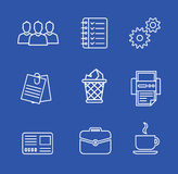 Business icons set.Vector illustration. Business flat fashion icons for you Royalty Free Stock Photo