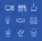 Business icons set.Vector illustration. Business flat fashion icons for you Royalty Free Stock Image