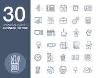 Business icons set.Vector illustration. Business flat fashion icons for you Royalty Free Stock Images