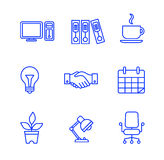 Business icons set.Vector illustration. Business flat fashion icons for you Stock Images
