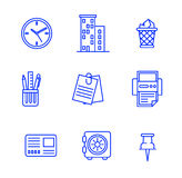 Business icons set.Vector illustration. Business flat fashion icons for you Stock Image
