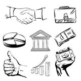 Business icons set vector  illustration Stock Images
