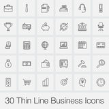 Business icons set vector isolated on grey. Business icons set vector isolated on grey Royalty Free Stock Images