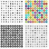100 business icons set vector variant. 100 business icons set vector in 4 variant for any web design isolated on white Stock Photography