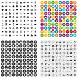 100 business icons set vector variant. 100 business icons set vector in 4 variant for any web design isolated on white stock illustration