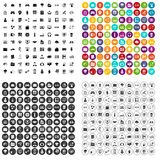 100 IT business icons set vector variant. 100 IT business icons set vector in 4 variant for any web design isolated on white stock illustration