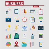 Business icons set. For web design and application interface, also useful for infographics. Vector illustration Royalty Free Stock Images