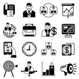 Business icons. Set of 16 business icons on white background Stock Photo