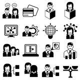 Business icons. Set of 16 business icons on white background royalty free illustration