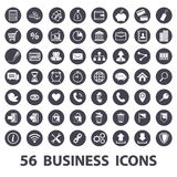 Business icons set. White business icons set on a black circle