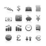 Business Icons Silhouette Series Royalty Free Stock Photos