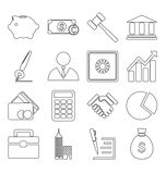 Business icons stroke Stock Photo
