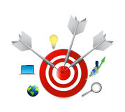 Business icons and target infographics Royalty Free Stock Image