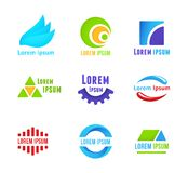 Business icons templates Stock Image