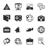 Business 16 icons universal set for web and mobile Stock Photography