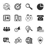 Business 16 icons universal set for web and mobile. Flat Royalty Free Stock Images