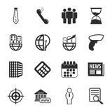 Business 16 icons universal set for web and mobile. Flat Royalty Free Stock Photos