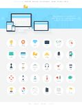 Business icons Royalty Free Stock Photos