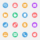Business icons vector flat Stock Image