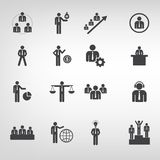 Business icons Vector flat style illustrator on background. vector illustration