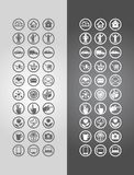 Business icons. Vector illustration business icons in round frames Stock Images