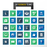 Business icons. 30 business icons vector illustrations Stock Images
