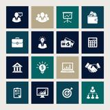 Business icons. Vector set of 16 business icons vector illustration