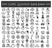 Business icons vector set hand drawn art illustration.  Stock Image