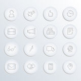Business icons vector set (paper style) Royalty Free Stock Image