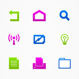 Business icons web buttons illustration sign royalty free illustration