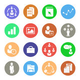 Business icons, Web icons set Stock Photos