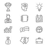 Business icons on a white background. Vector icons, hand-drawn Stock Images