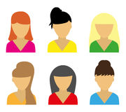 Business icons young women Royalty Free Stock Photography