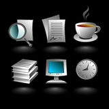 Business iconset Stock Photos