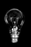 Business idea black bulb Royalty Free Stock Photos
