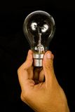 Business idea - black bulb Royalty Free Stock Images