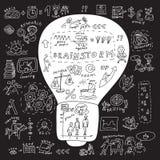 Business idea bulb Stock Photos