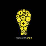 Business idea concept. Abstract lamp symbol, Vector illustration Stock Photo